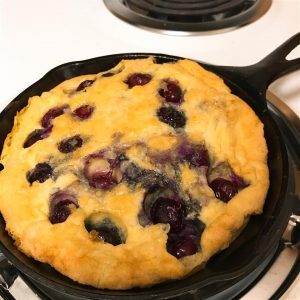 Paleo Blueberry Cast Iron Pancake