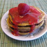 Paleo Pancakes with Pureed Strawberries