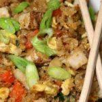 Spicy Cauliflower Fried 'Rice' with Pork