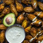Crispy Keto Wings with Creamy Garlic Sauce (Baked, Paleo, Whole30) • The Castaway Kitchen